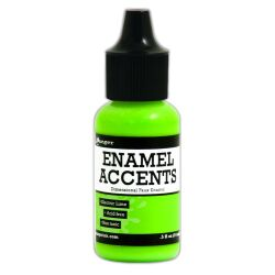Enamel Accents von Ranger, 14 ml, Farbe: electric lime