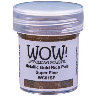 WOW Embossingpulver 15ml, Metallics, Farbe: Metallic Gold Rich Pale Superfine