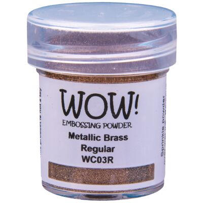 WOW Embossingpulver 15ml, Metallics, Farbe: Metallic Brass