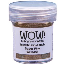 WOW Embossingpulver 15ml, Metallics, Farbe: Metallic Gold...
