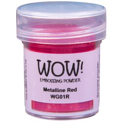 WOW Embossingpulver 15ml, Metalline, Farbe: Red