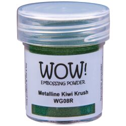 WOW Embossingpulver 15ml, Metalline, Farbe: Kiwi Krush