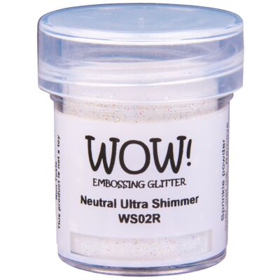 WOW Embossingpulver 15ml, Glitters, Farbe: Neutral Ultra Shimmer Translucent