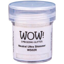 WOW Embossingpulver 15ml, Glitters, Farbe: Neutral Ultra...