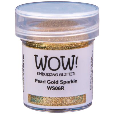 WOW Embossingpulver 15ml, Glitters, Farbe: Pearl Gold Sparkle Translucent