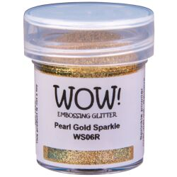 WOW Embossingpulver 15ml, Glitters, Farbe: Pearl Gold...