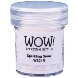 WOW Embossingpulver 15ml, Glitters, Farbe: Sparkling Snow