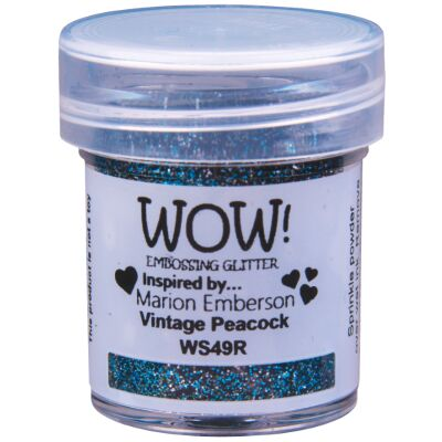 WOW Embossingpulver 15ml, Glitters, Farbe: Vintage Peacock