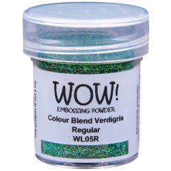 WOW Embossingpulver 15ml, Colour Blends, Farbe: Verdigris