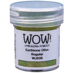 WOW Embossingpulver 15ml, Earth Tones, Farbe: Olive