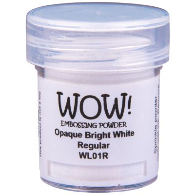 WOW Embossingpulver 15ml, Whites, Farbe: Bright White Superfine