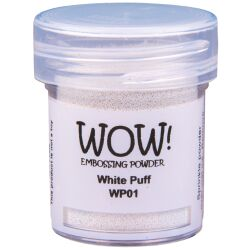 WOW Embossingpulver 15ml, Puff, Farbe: White