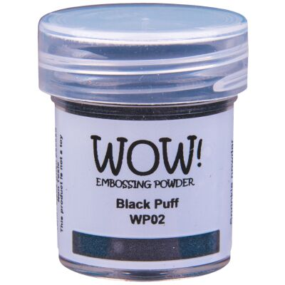 WOW Embossingpulver 15ml, Puff, Farbe: Black