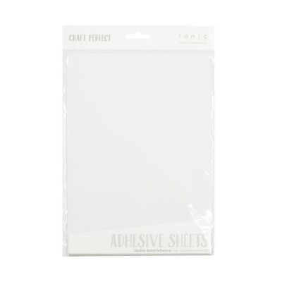 Tonic Studios Craft Perfect, Adhesive Sheets double sided A4, 5 Blatt