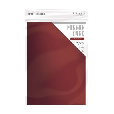 Tonic Studios Craft Perfect, Mirror Card Gloss, A4, 5x 250g, Rustic Dust