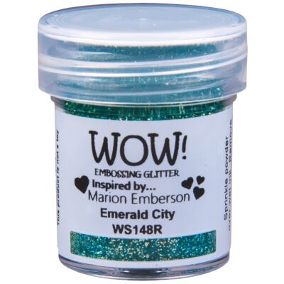 WOW Embossingpulver 15ml, Glitters, Farbe: Emerald City Translucent