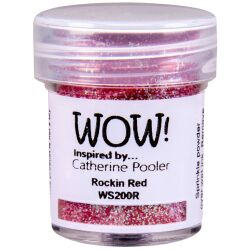 WOW Embossingpulver 15ml, Glitters, Farbe: Rockin Red...