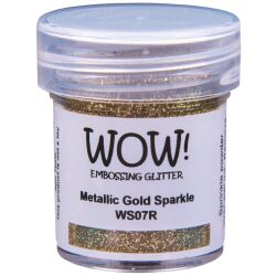 WOW Embossingpulver 15ml, Glitters, Farbe: Metallic Gold...