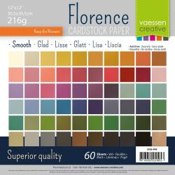 Florence Cardstock smooth 30,5x30,5 Multipack, 216g, 60...
