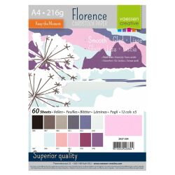 Florence Cardstock smooth Multipack, A4, 216g, 12x5...