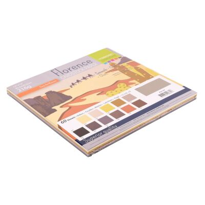 Florence Cardstock smooth 30,5x30,5 Multipack, 216g, 12x5 Blatt: Earth Tones