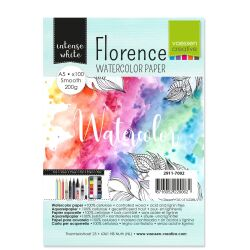 Florence Watercolor Paper,  A5, 200g, 100 Blatt, smooth,...