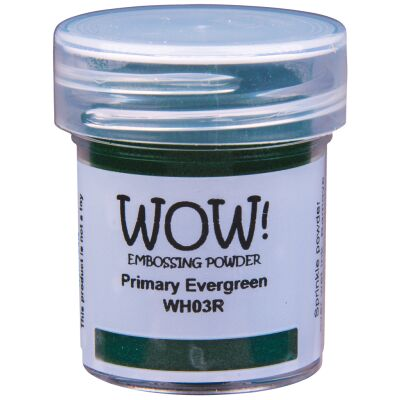WOW Embossingpulver 15ml, Primary, Farbe: Evergreen Translucent