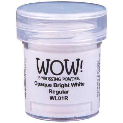 WOW Embossingpulver 15ml, Whites, Farbe: Bright White Regular