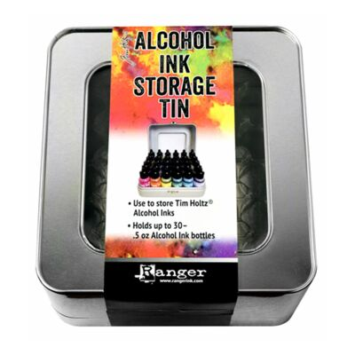 Ranger Alcohol Ink Storage Tin, Lagerungskiste aus Metall für 30 Inks