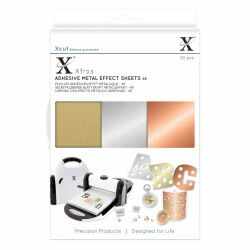 Xcut Adhesive Metall Effect Sheets, selbstklebend, A5 20...