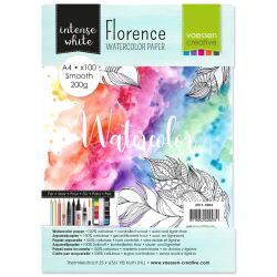 Florence Watercolor Paper,  A4, 200g, 100 Blatt, smooth,...
