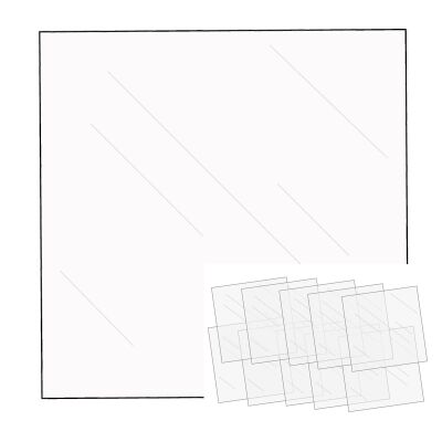 We R Memory Keepers FUSEables Clear Sheets, 30,5x30,5 cm, 10 Stück