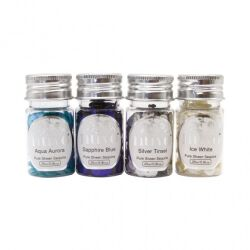 Tonic Studio Nuvo Pure Sheen Sequins, 4 x 25 ml, Let It Snow
